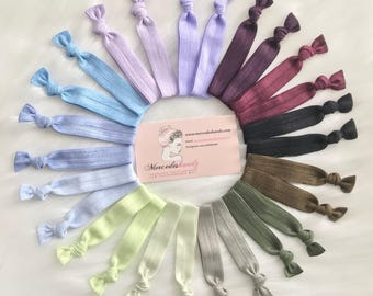 Lot of 26 no crease hair ties elastic ponytails topknot holder hair accessories
