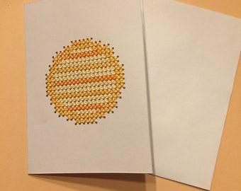Yellow stripe Circle Card