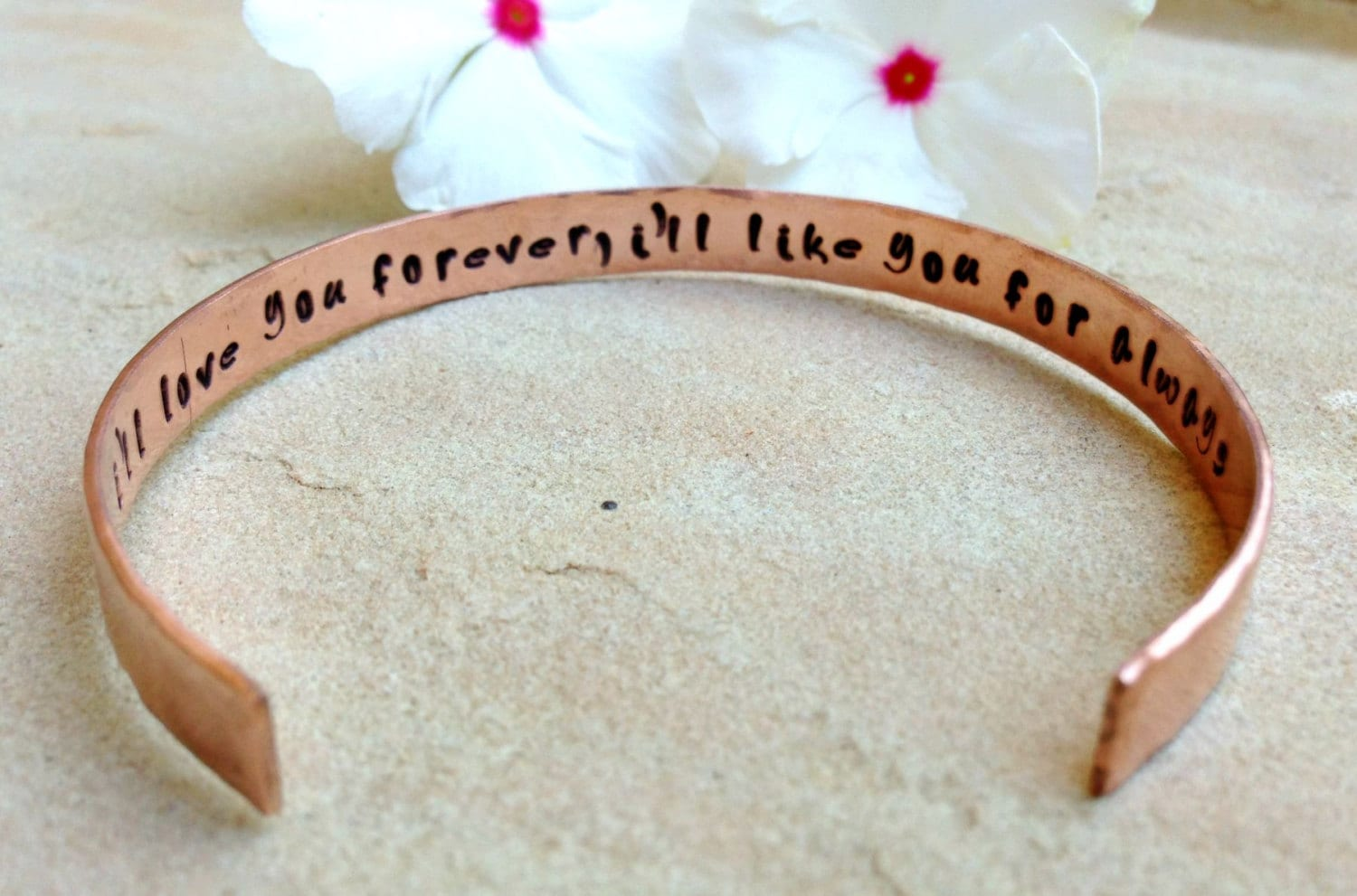I Love You Forever I Like You For Always Quote Mother Daughter Bracelet Mother Daughter Gifts Quote