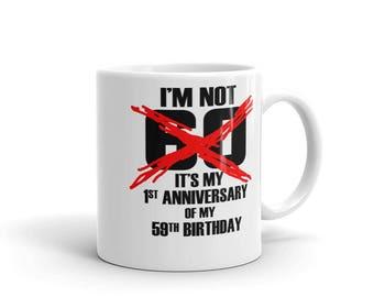 60th Birthday Coffee Mug Gift Idea