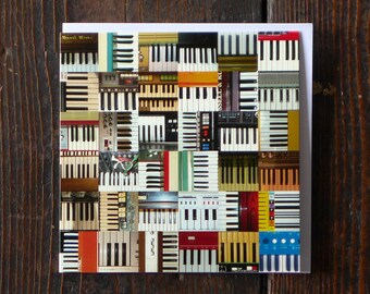 Keyboards   Greeting Card   Male Birthday Card   Collections Greetings Card   Photographic Card for Him   Musical Instruments Card   Pianos