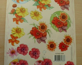 creation and embellishment cardmaking vintage 3-d bouquets flowers sunflowers cutting images