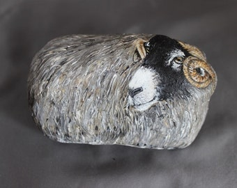 Collectible stone Swaledale Sheep