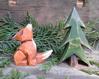 Fox with Tree