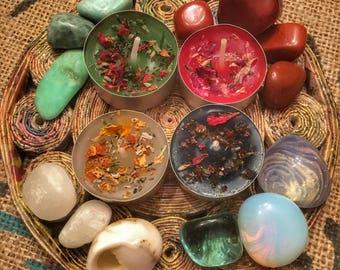 Kit Candele rituali - amore - guarigione - prosperità - chakra