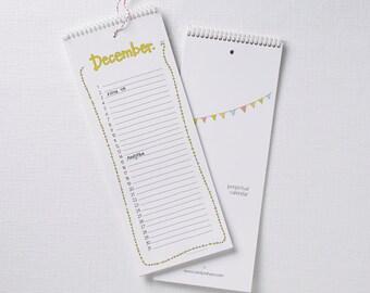 Birthday Calendar - Anniversary Calendar - Perpetual Calendar - Dutch calendar - verjaardagskalender - geburtstagskalender - illustration