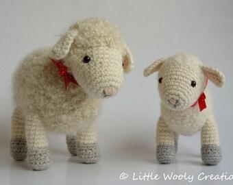 Haakpatroon Cora het schaap en Sofie het lammetje