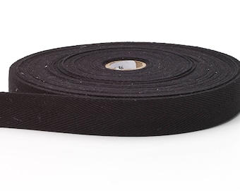 Twill tape, 1/2-inch Wide, 36 yds, Black