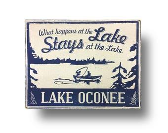 What Happens at the Lake......Lake Oconee 13x15
