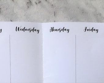 Personal Planner Weekly Printable - Black