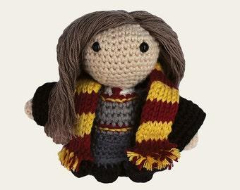 Hermione - Harry Potter. Amigurumi Pattern PDF, DIY, Crafts, Crochet, Fantasy Novels, Wizard, Magic, Doll, Geek, Gift, Instant download