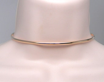 Made To Order Golden Better Part of Valor 14 kt Gold Filled Slave Collar with Gold Anodized Titanium Captive Segment Clasp