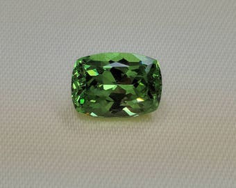 4.35 Carat Precision Cushion Cut Merelani Mint Grossular Garnet