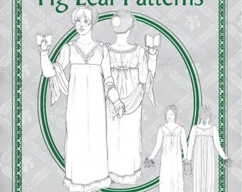 Fig Leaf Patterns® 214 Surplice Bodice Dress, c. 1810-1815, size 8-18