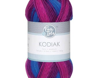 Berry Fair Isle Kodiak Space Dye Yarn Wool (Pre-Order)