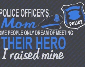 Police Officer Mom SVG