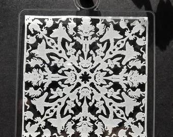 Alice in Wonderland Square Snowflake Ornament