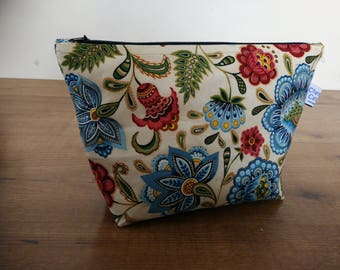 Floral knitting projectbag