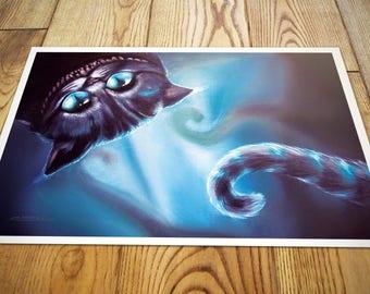 Cheshire cat from Alice in Wonderland fantasy fanart photo print