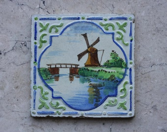 Delt Blue Colorful Tile Vintage Ceramic Tile