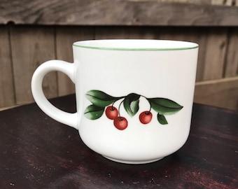 Vintage Cades Cove Apple and Cherries Coffee Mug