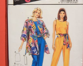Burda 4338 Super easy jacket, top and pants pattern Uncut Sizes 12, 14, 16, 18, 20 and 22