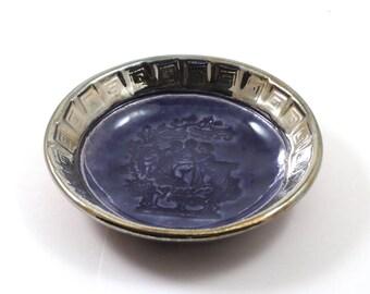 The Three Graces Offering Bowl  Handmade Raku Pottery
