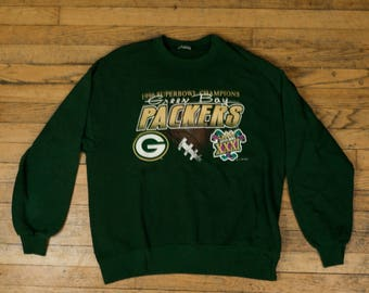 Tag-less Green Bay Packers Superbowl XXXI Sweater