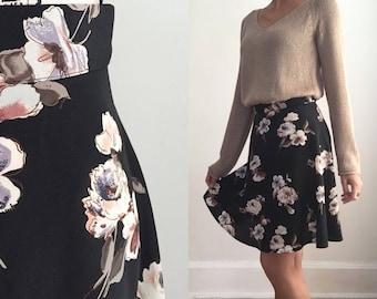 Vintage Floral Skirt, Vintage Short Length Floral Skirt, Short Floral Skirt, Spring Skirt,  Summer Skirt, 90s Skirt