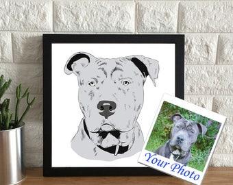 Custom Dog Portrait Drawing | Custom Dog Portrait Illustration | Personalized Pet Drawing | Dog Lover Gift | Custom Pet Portrait