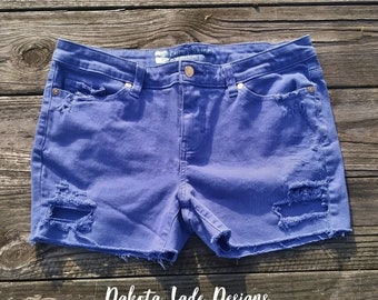 Juniors Shorts / Ripped Jeans/ Cut Off Shorts/ Distressed Shorts/ Distressed Denim Shorts/ Distressed Denim Jeans/ Ripped Shorts/ Denim