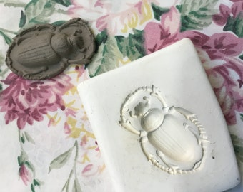 Clay Sprig Stamp Beetle Pottery Press Mold Relief Mold or Sprig Mold Bisque Clay Stamp for Ceramic Decoration and Texture