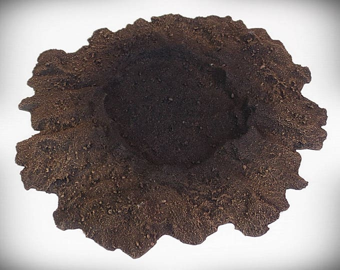 Wargame Terrain - Single Crater A (large) – UNPAINTED KIT - Miniature Wargaming & RPG blast crater terrain