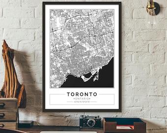 Toronto city map etsy toronto gumiabroncs Choice Image