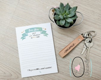 A6 - words of love - stationery Notepad - Love
