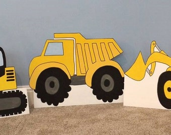 ONE 2ft Construction Cut out (Bulldozer, Excavator, Dump Truck)