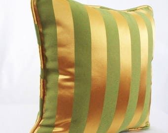 Metallic gold pillow,  Gold throw pillow, Metallic pillow cover,  Decorative Pillows, Cushion corded, Striped