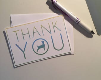Show Goat Thank You Cards - 4x6 - Flat QTY 5