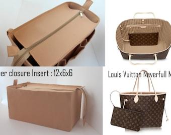 Purse organizer for Louis Vuitton Neverfull MM with Zipper closure- Bag organizer insert in Sand