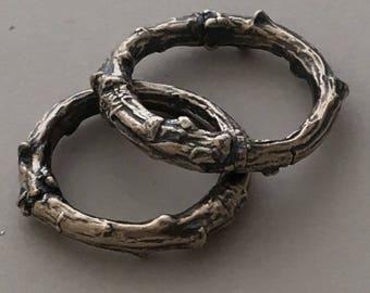 Twig, Oxidised, Wedding, Rustic, Organic,Commitment, Friendship, Custom, Ring,