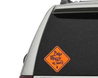 Baby Muggle on Board Vinyl Decal - Vinyl Decals for your Muggle Mobile! Vinyl window decal - car window decal - car decal