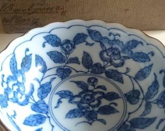 TAKAHASHI Blue and White Porcelain Bowl or Dish.