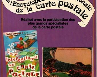 Volume 1 de L'Encyclopedie Internationale de la Carte Postale Post Card Encyclopedia + Annie et Francois Baudet + 1978 + Vintage Book
