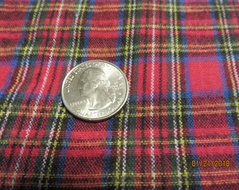 Fushia, Blue, Green, Plaid Cotton Flannel   2.5 yards available    Free Shipping