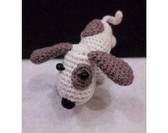 Crochet mini Dog Ornaments 2018 Year of Brown Earth Dog Lover Gift For Friends Amigurumi Handmade Toy Stuffed Mini Crochet Cute Puppy Dog