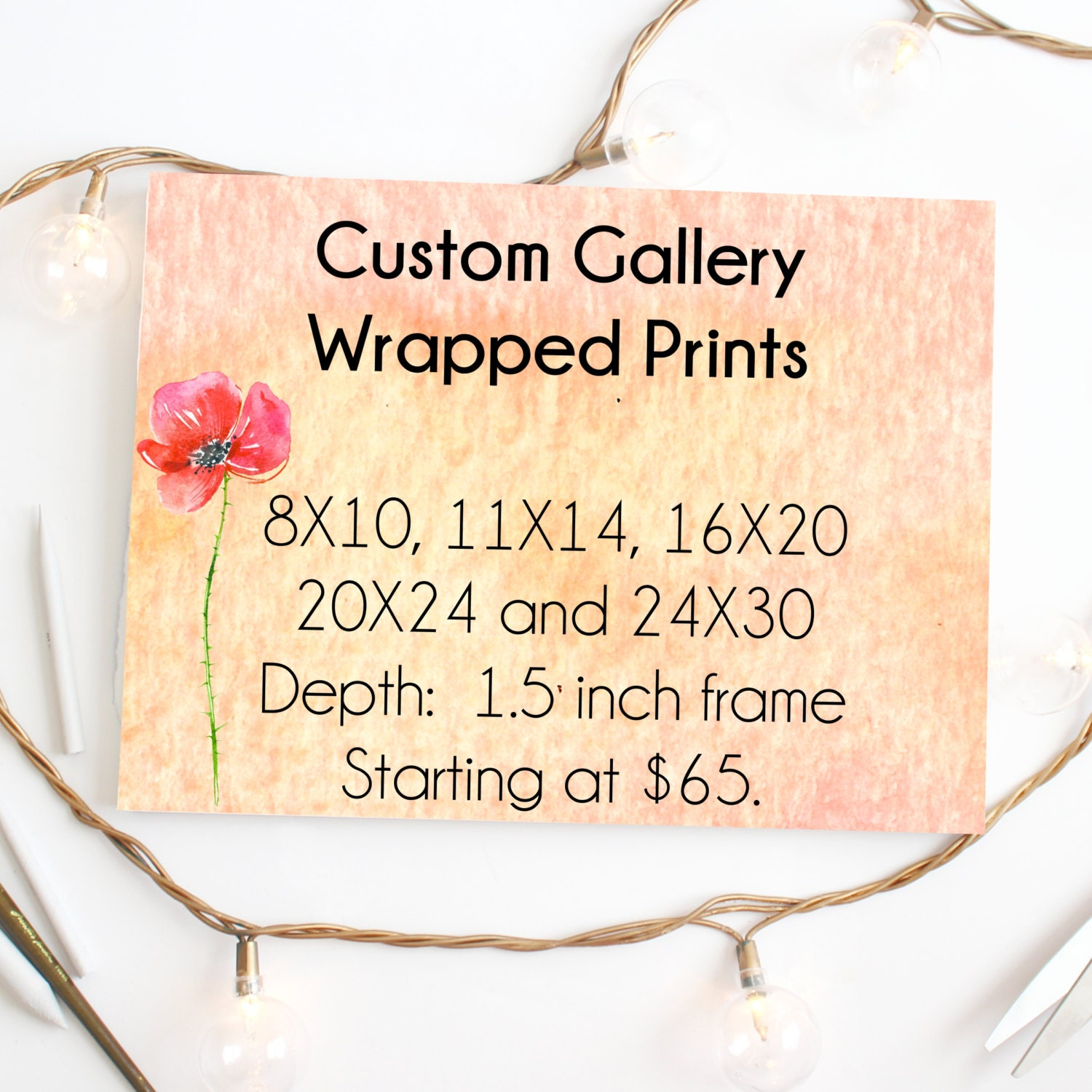Custom Canvas Gallery Wrapped Fine Art Print: Any Print from