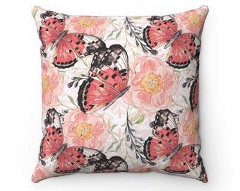 Butterfly Cushion Cover, Butterfly Cushion, Butterfly Pillow, Pillow, Butterflies, Home Decor, Decorative Pillow, Pillow Cover, Throw Pillow