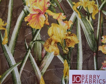 Irises from Abbeys Garden by Eugene Textiles.  Quilt or Craft Fabric, Fabric by the Yard.