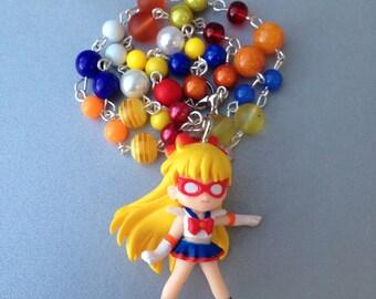 Sailor V // Sailor Moon // Beaded Necklace
