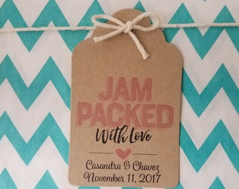 Wedding Gift Tags - Best Day Ever - Bridal Shower Favor Tags - Customizable Personalized - Kraft Brown (WT1811)